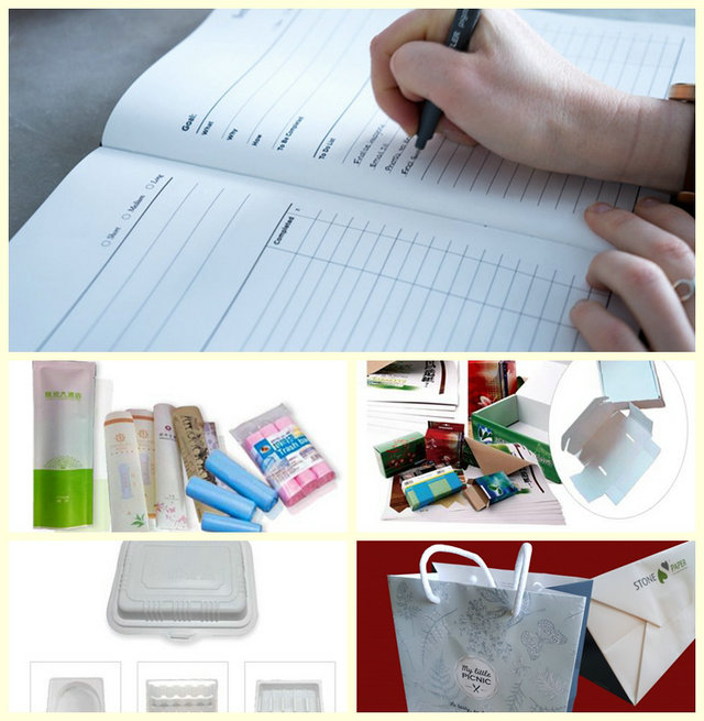 100-200um Eco friendly Biodegradable Stone Wrapping Paper For Notebook In Rolls