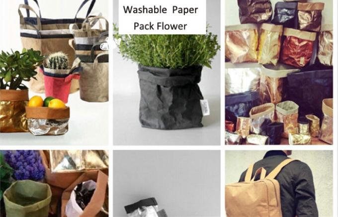 Fiber Based Pre Washable Textured Kraft Paper for Plants Grow Paper 0.55mm
