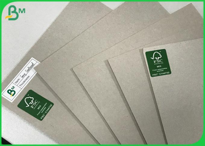 Hardcover book Board 1.5mm 1.7mm 3mm Uncoated Grey Paper Board sheets 100 * 80CM